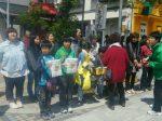 加美町「初午まつり 火伏せの虎舞」での街頭募金1