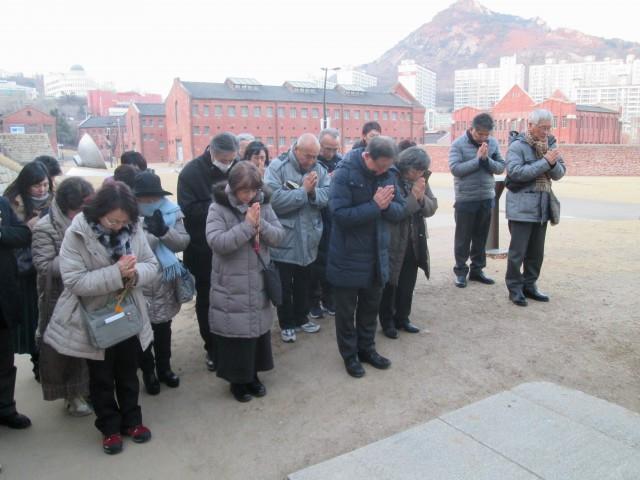 西大門刑務所歴史館での祈り(決定)